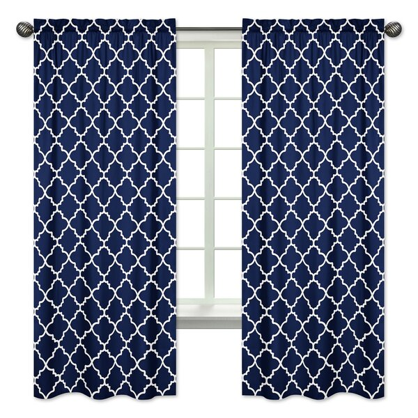 Trellis Window Curtain Panels (Set of 2) by Sweet Jojo Designs