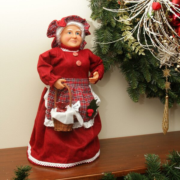 Mrs. Claus Basket of Sweets Christmas Tree Topper or Table Top Decoration by Northlight Seasonal
