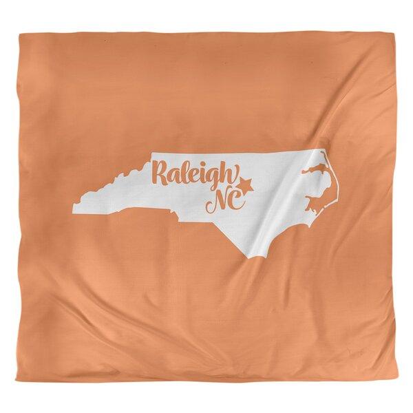 Raleigh North Carolina Duvet Cover