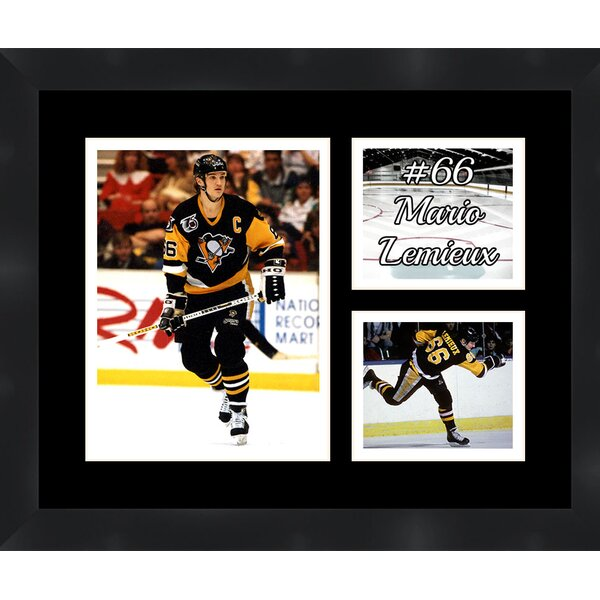 Pittsburgh Penguins Mario Lemieux 66 Photo Collage Framed Photographic Print by Frames By Mail