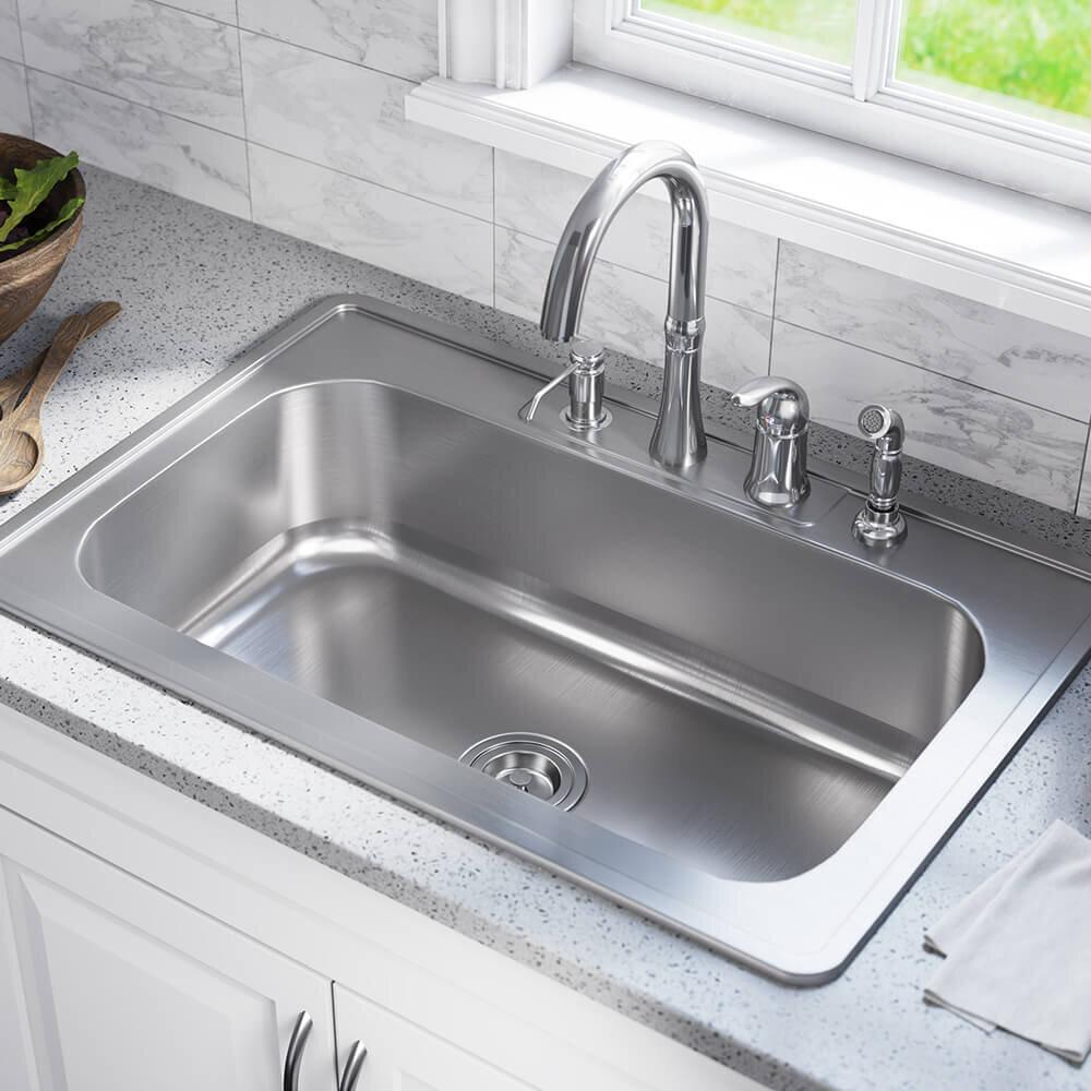 Mrdirect Stainless Steel 33 X 22 Drop In Kitchen Sink Reviews Wayfair