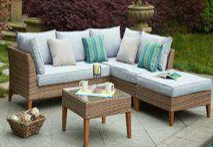 Piedmont Garden 5 Piece Sofa Set with Cushions By W Unlimited