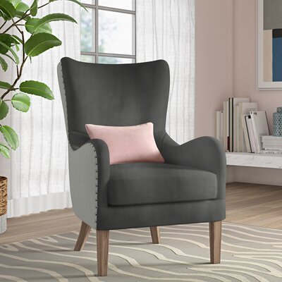 Wingback Chair Dark Gray img