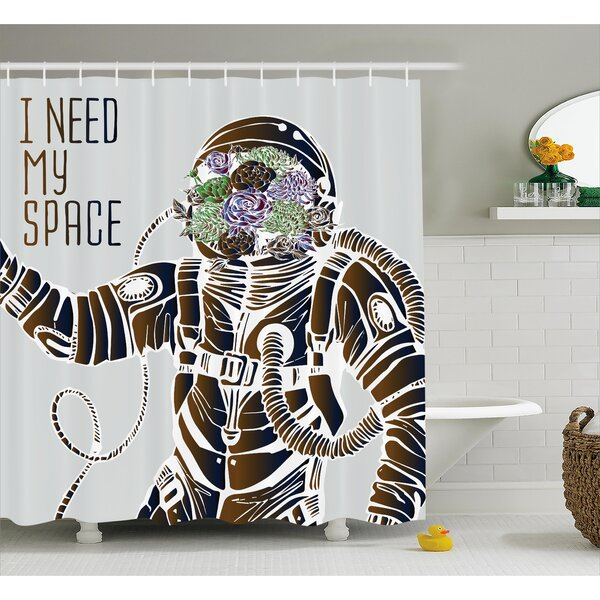 I Need My Space Decor Shower Curtain by East Urban Home