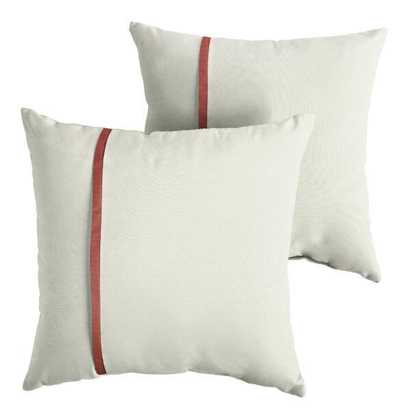 Fleischer Indoor/Outdoor Sunbrella Throw Pillow (Set of 2) by Charlton Home