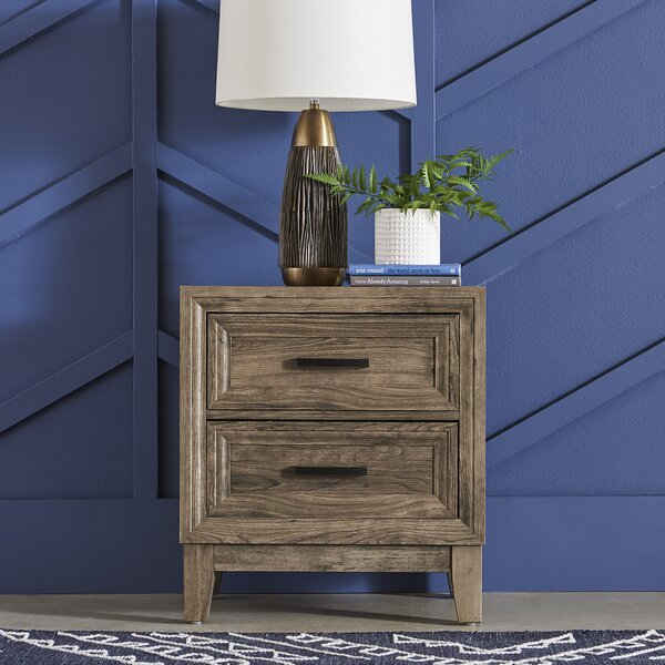 Riaria 2 Drawer Nightstand by Union Rustic