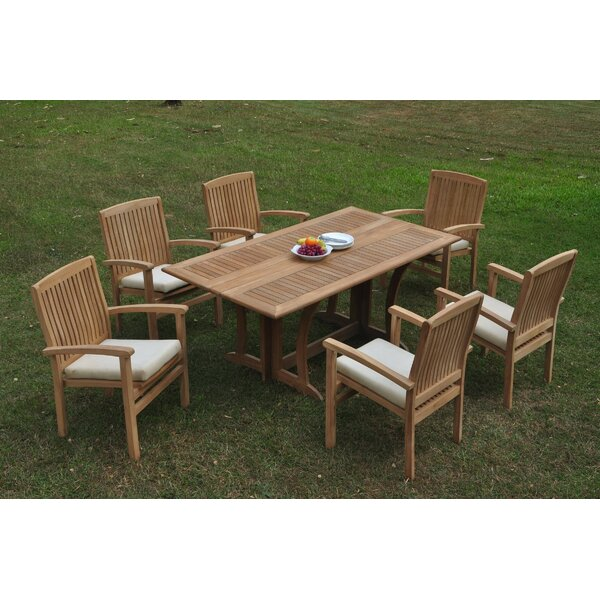 Rummond 7 Piece Teak Dining Set by Rosecliff Heights