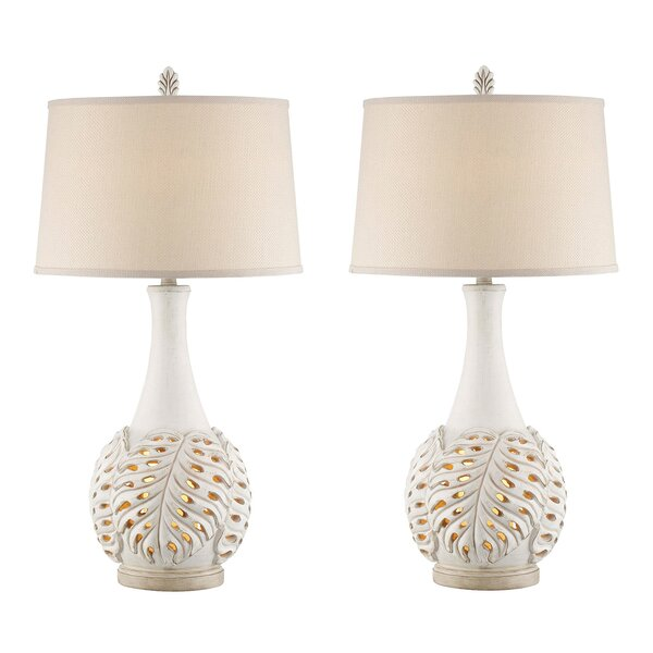Marnie Leaf 33 Table Lamp (Set of 2) by Highland Dunes