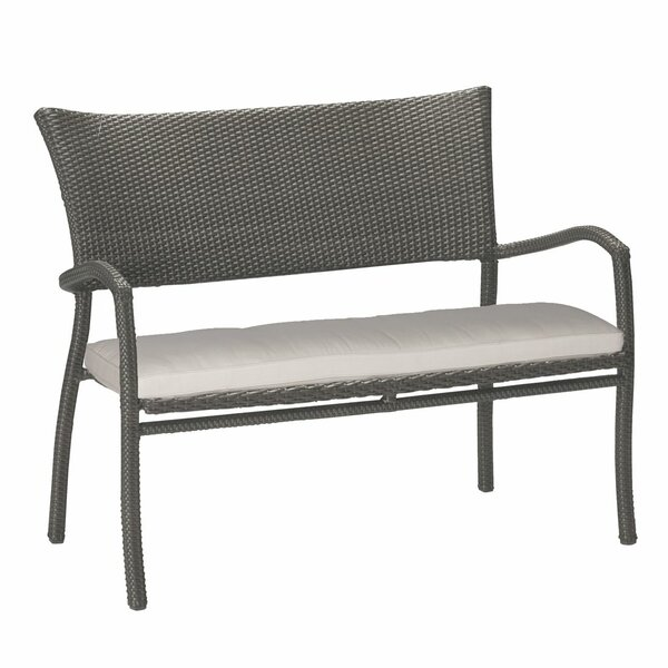 Skye Aluminum Garden Bench with Cushions by Summer Classics