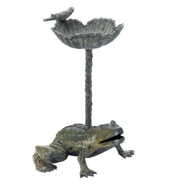 Leap Frog Birdbath by Zingz & Thingz