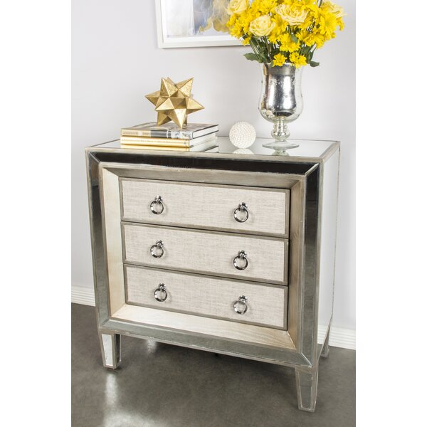 Kavia 3 Drawer Accent chest by House of Hampton