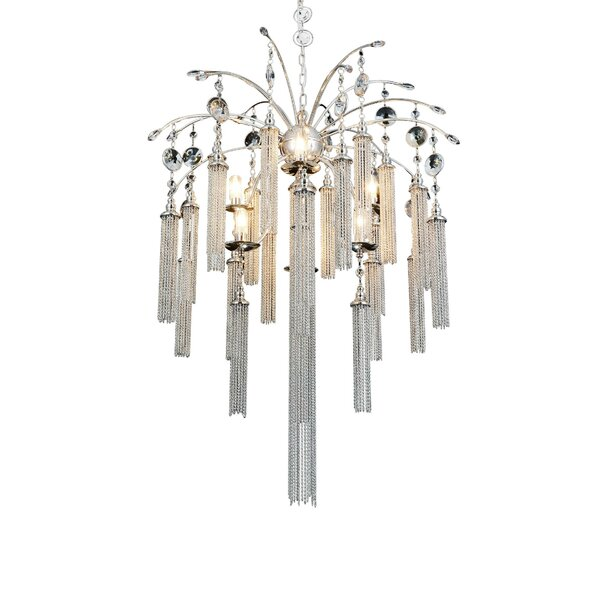 Cierra 7 - Light Unique / Statement Classic / Traditional Chandelier By Rosdorf Park