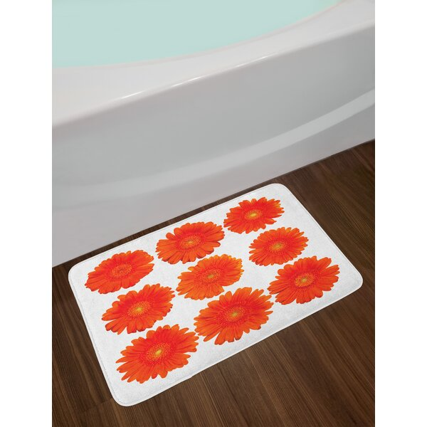 Collection of Gerberas Botanical Bath Rug by East Urban Home