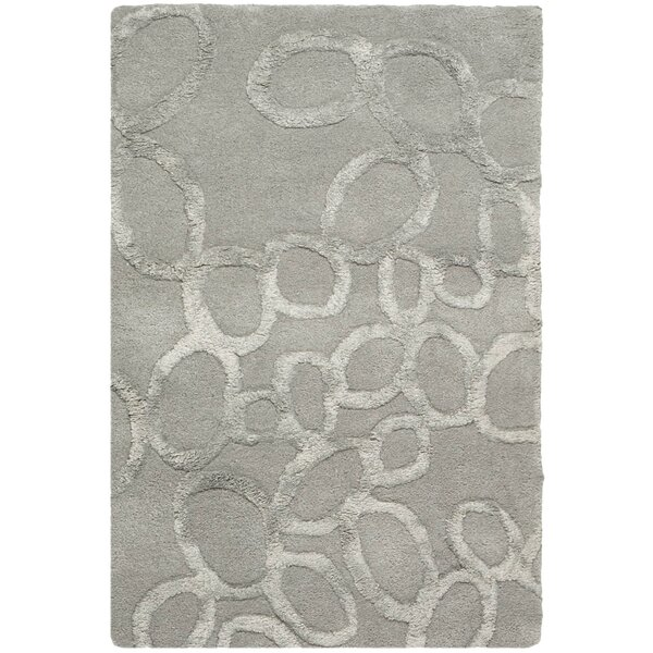 One-of-a-Kind Avonmore Tufted Wool Grey Area Rug by Wade Logan