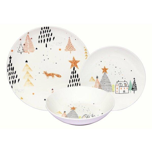 Warleigh Winter Fox Porcelain Coupe 18 Piece Dinnerware Set, Service for 6 by Latitude Run
