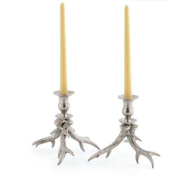 Metal Candlestick (Set of 2) by Loon Peak