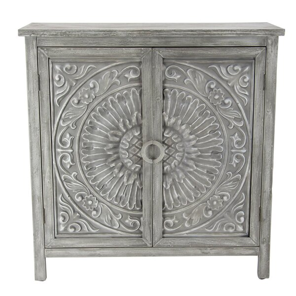 Ignazio Wood Flourished 2 Door Accent Cabinet by One Allium Way