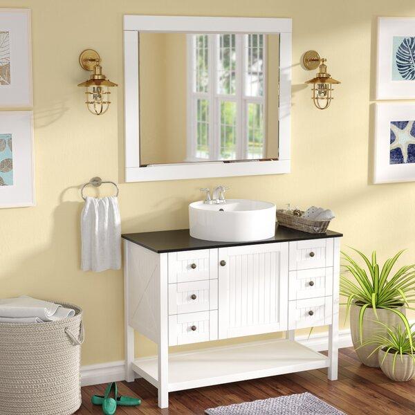 Nadler 42 Single Bathroom Vanity Set with Mirror by Beachcrest Home
