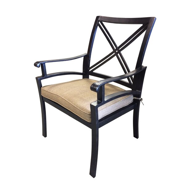 Aube Patio Dining Chair with Cushion by Canora Grey Canora Grey