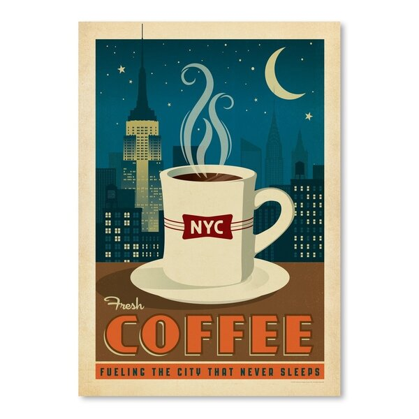 Coffee New York Coffee Vintage Advertisement by East Urban Home