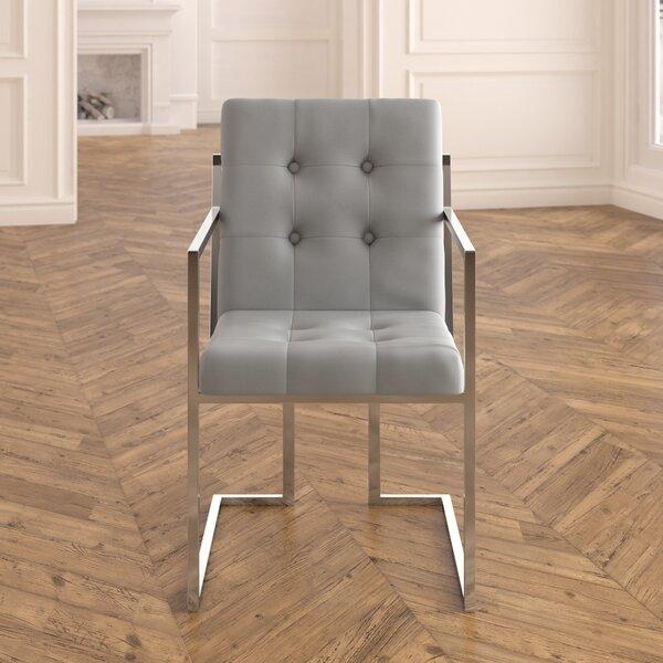 Best Choices Bellamy Chrome Arm Chair (Set Of 2) By Everly Quinn Sale