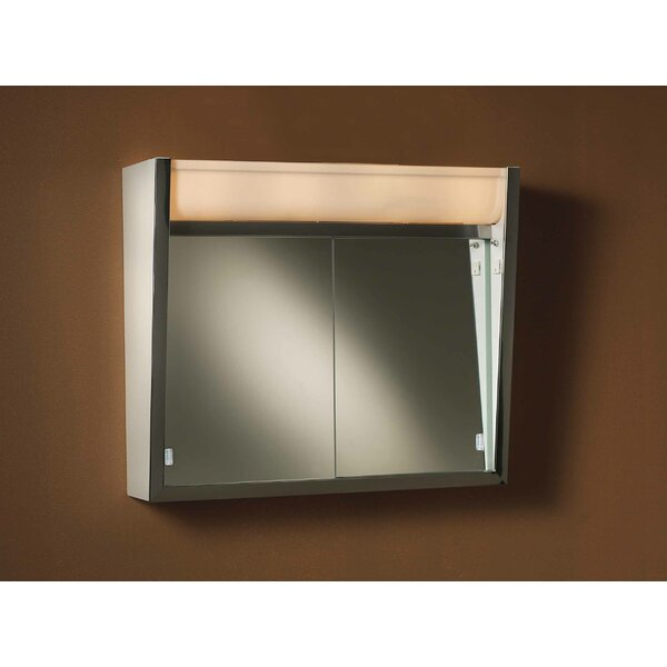 Ensign 24 x 23.5 Surface Mount Medicine Cabinet with Lighting by Jensen
