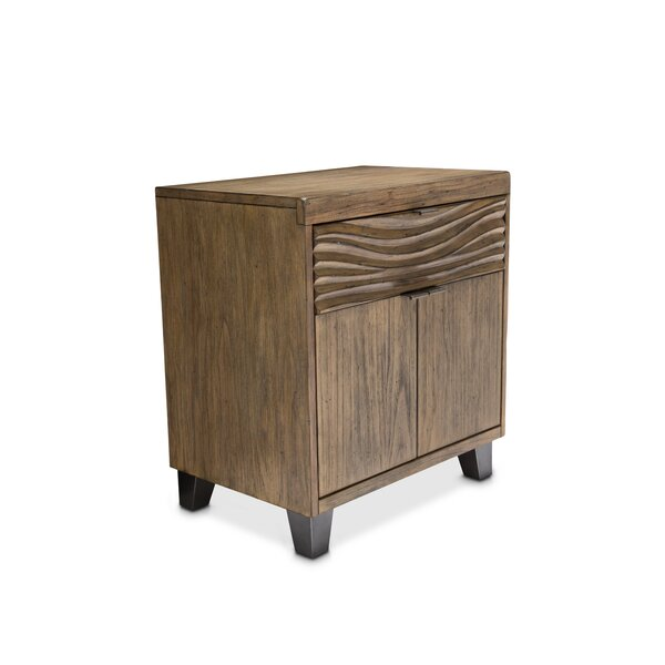 Gisela 1 Drawer Nightstand by Millwood Pines