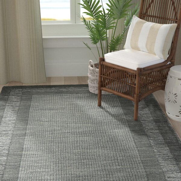 Frederica Dark Gray Area Rug by Highland Dunes