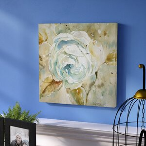 'Rose' Oil Painting Print on Wrapped Canvas by Andover Mills