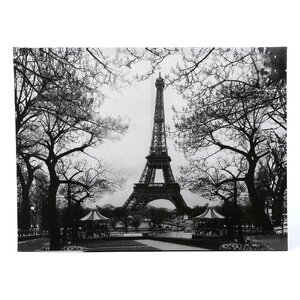 'Eiffel Tower Park' Photographic Print on Wrapped Canvas by Three Posts