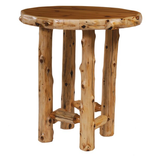 Traditional Cedar Log Dining Table by Fireside Lodge