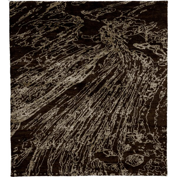 One-of-a-Kind Rorry Hand-Knotted Black 6' x 9' Area Rug