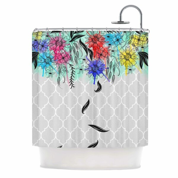 Famenxt Watercolor Spring Shower Curtain by East Urban Home