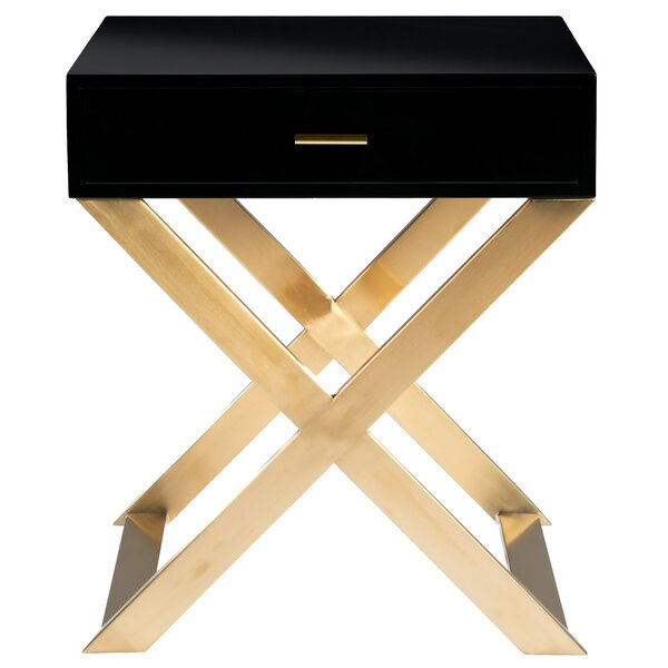 Jiminez 1 Drawer Nightstand by Everly Quinn