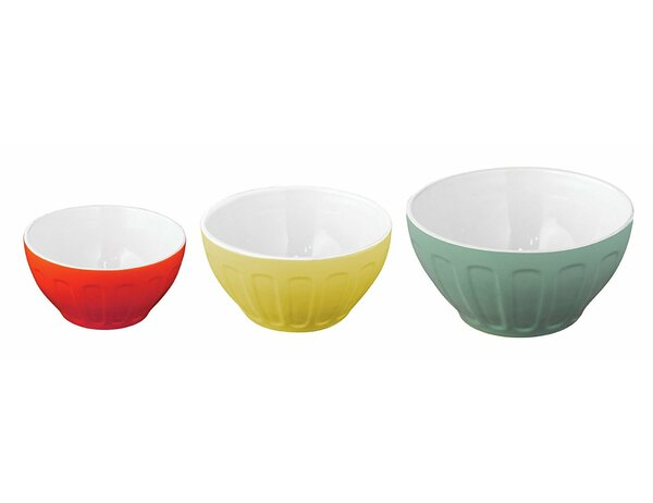 3 Piece Stoneware Mixing Bowl Set by Good Cook