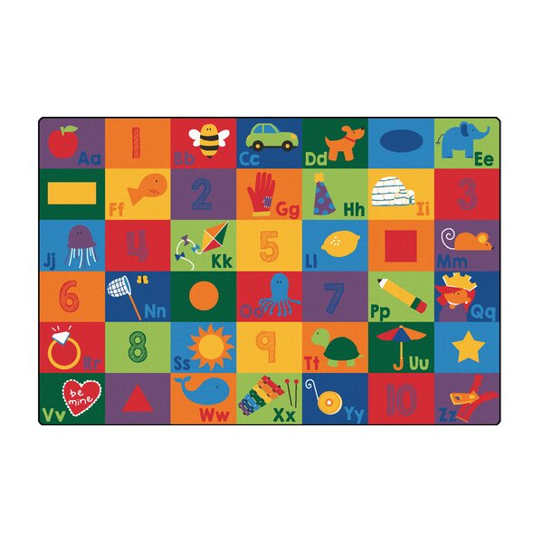 Sequential Literacy Seating Area Rug by Carpets for Kids Premium Collection