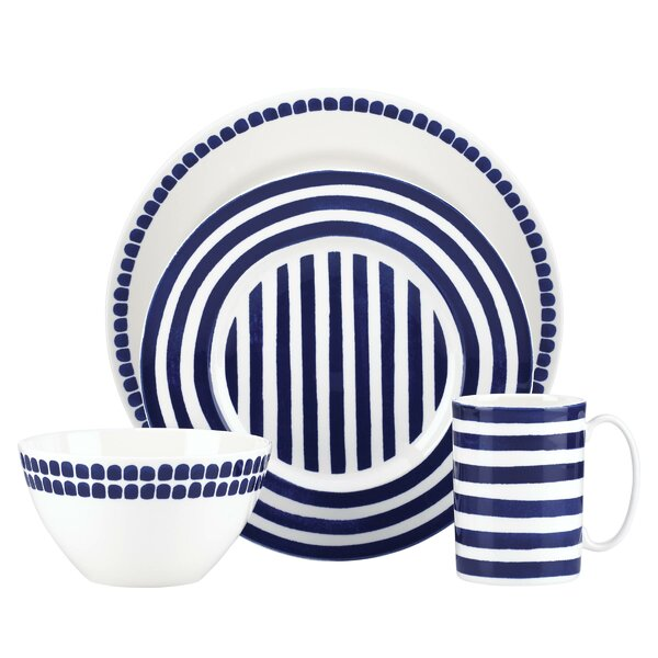 Charlotte Street North 4 Piece Place Setting, Service for 1 by kate spade new york