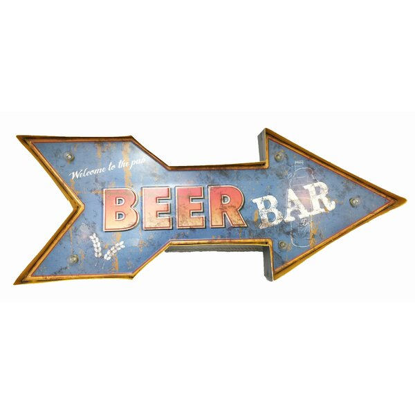 Beer Bar Battery Operated Light Marquee Sign by Creative Motion
