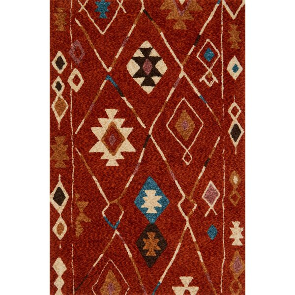 Zambrano Red Area Rug by Bloomsbury Market