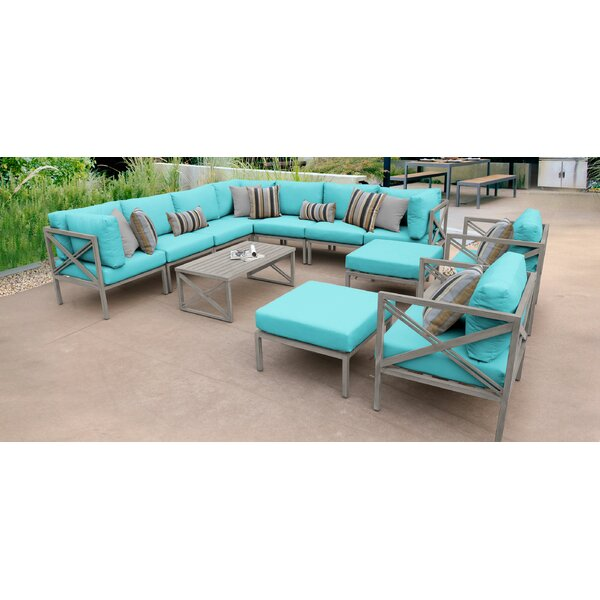 Carlisle 13 Piece Sectional Seating Group with Cushions by TK Classics