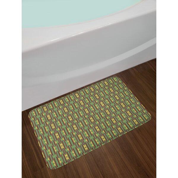 Retro Kente Pattern Bath Rug by East Urban Home