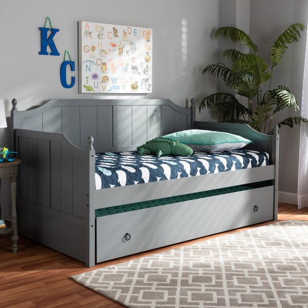 Kalel Wood Twin Daybed with Trundle by Breakwater Bay