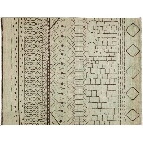 One-of-a-Kind Vibrance Hand-Knotted Ivory Area Rug by Darya Rugs