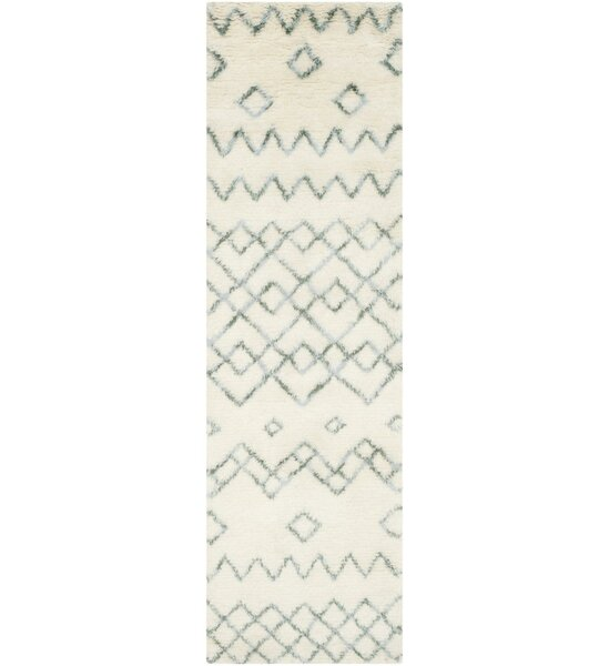 Lockheart Geometric Hand-Tufted Beige/Blue Area Rug by Mistana