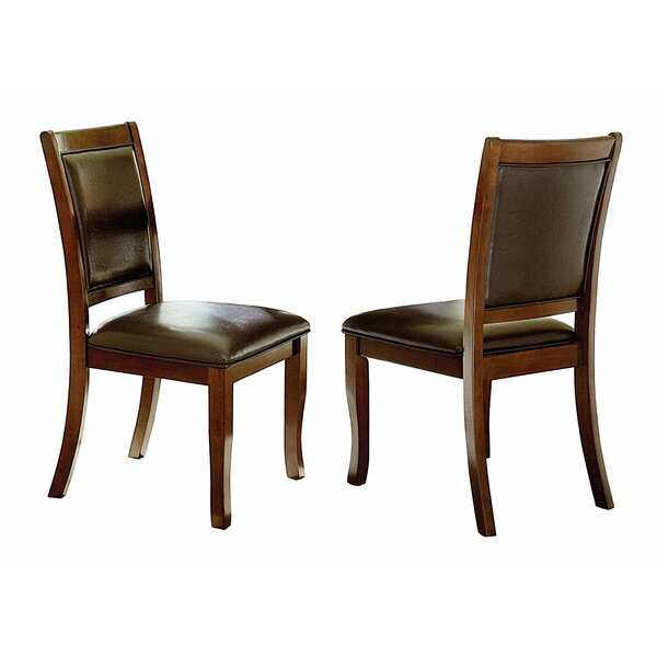 Kanye Wood and Leather Upholstered Dining Chair (Set of 2) by Red Barrel Studio
