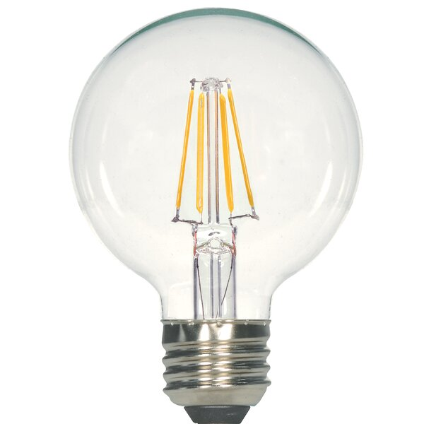E26 Medium LED Vintage Filament Light Bulb (Set of 6) by Satco