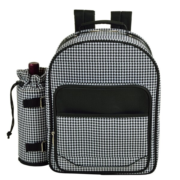 Houndstooth Backpack Picnic Cooler by Picnic at Ascot