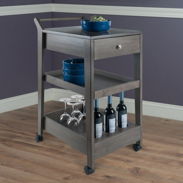 Saunders Entertainment Bar Cart by Latitude Run Latitude Run