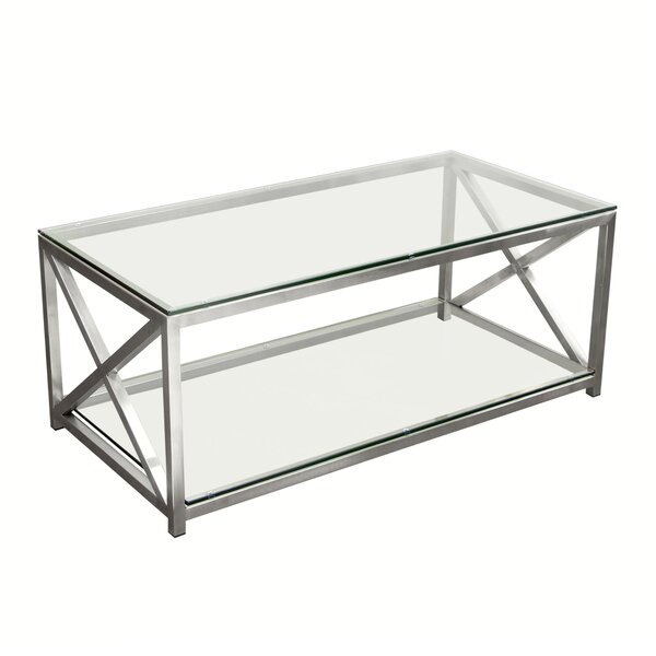 X-Factor Coffee Table with Magazine Rack by Diamond Sofa