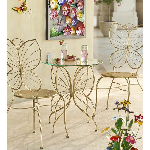 Butterfly 3 Piece Bistro Set by Wind & Weather